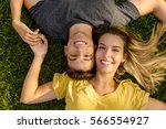 portrait of a young beautiful... | Shutterstock . vector #566554927