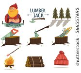 lumberjack  timber and... | Shutterstock .eps vector #566557693