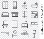 furniture icons set. flat...   Shutterstock .eps vector #566561197