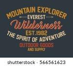 mountain explorer  everest ...   Shutterstock .eps vector #566561623
