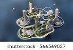 concept future city skyline.... | Shutterstock . vector #566569027