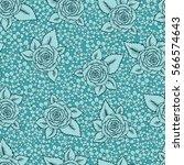 vintage vector seamless pattern ... | Shutterstock .eps vector #566574643