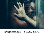 young couple of naked woman and ... | Shutterstock . vector #566575273