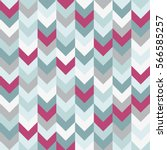 Chevron pattern seamless vector arrows geometric design in mixed order colorful white pink light blue grey aqua | Shutterstock vector #566585257