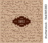 vector swirls and flourish... | Shutterstock .eps vector #566585383