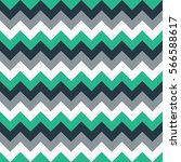 Chevron pattern seamless vector arrows geometric design colorful green grey white turquoise | Shutterstock vector #566588617
