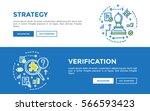 doodle web banners vector... | Shutterstock .eps vector #566593423