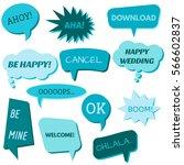 set of speech bubbles on a... | Shutterstock .eps vector #566602837