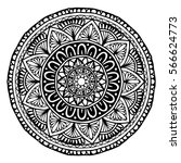 mandalas for coloring book.... | Shutterstock .eps vector #566624773