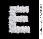 capital letter e font of white... | Shutterstock . vector #566630323