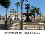 terreiro de jesus  famous... | Shutterstock . vector #566635117