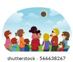 stickman illustration of groups ... | Shutterstock .eps vector #566638267