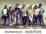 friends people group teamwork... | Shutterstock . vector #566639203