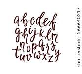 calligraphic font. modern brush ... | Shutterstock .eps vector #566640217