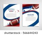 american football poster ... | Shutterstock .eps vector #566644243