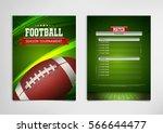 american football poster ... | Shutterstock .eps vector #566644477