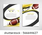 american football poster ... | Shutterstock .eps vector #566644627
