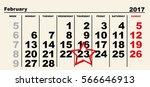february 23 calendar reminder...   Shutterstock .eps vector #566646913