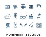 movie icons | Shutterstock .eps vector #56665306