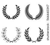 set of laurel wreaths isolated...   Shutterstock .eps vector #566660347