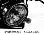 vintage headlamp motorcycle | Shutterstock . vector #566663323