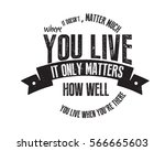 it doesn't matter much where... | Shutterstock .eps vector #566665603