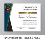 luxury certificate of... | Shutterstock .eps vector #566667667