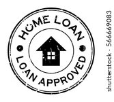 grunge black home loan approved ... | Shutterstock .eps vector #566669083