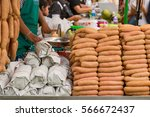 asian street food market ... | Shutterstock . vector #566672437