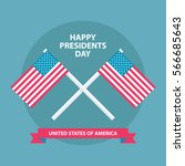 happy presidents day greeting... | Shutterstock .eps vector #566685643