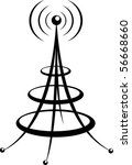 power tower   Shutterstock .eps vector #56668660