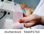 Electrocardiogram  Ecg In Hand...