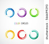 color circles set | Shutterstock .eps vector #566699293
