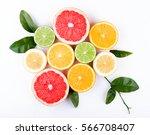 fruits arranged beautifully.... | Shutterstock . vector #566708407