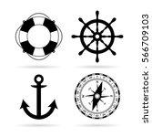 sea maritime vector icon set on ...