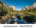 mountains and valley view... | Shutterstock . vector #566709913