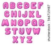balloon lettering funny... | Shutterstock .eps vector #566715487