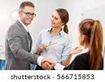 picture showing manager...   Shutterstock . vector #566715853