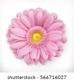 spring pink flower 3d vector... | Shutterstock .eps vector #566716027