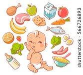 Cute Little Baby In Diaper...
