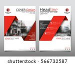 red fold flyer cover business... | Shutterstock .eps vector #566732587