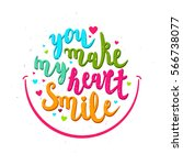happy valentines day lettering... | Shutterstock .eps vector #566738077