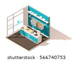 vector isometric low poly... | Shutterstock .eps vector #566740753