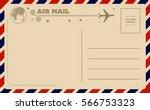 vintage postcard.  | Shutterstock .eps vector #566753323