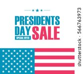 presidents day sale special... | Shutterstock .eps vector #566763973