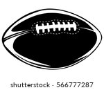 american football ball isolated ... | Shutterstock .eps vector #566777287