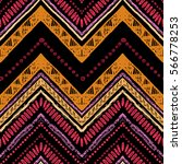 stripes bright tribal seamless... | Shutterstock .eps vector #566778253