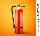 red fire extinguisher | Shutterstock .eps vector #566778667