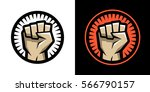 fist logo.   Shutterstock .eps vector #566790157