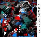 grunge geometric pattern for... | Shutterstock .eps vector #566795113